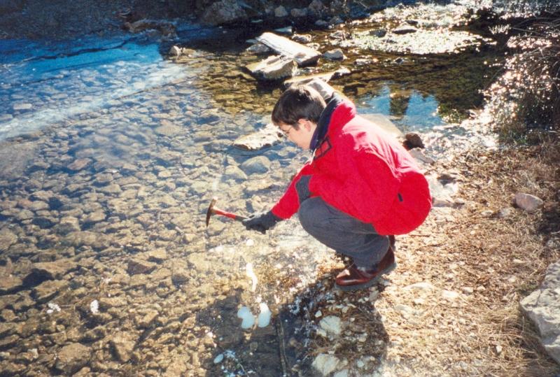 Isaac rompiendo el hielo